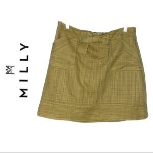 Milly of New York Yellow Bow Waist Skirt